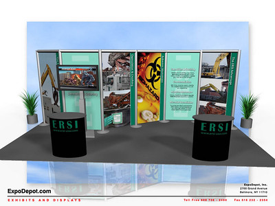 ERSI, Aero 10x20 Rendering http://expodepot.com/aero-backwall-displays-c-364.html