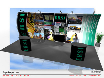 ERSI, Entasi 10x20 Vertical Curve w/ Stand-Off  Rendering 04 http://expodepot.com/entasi-showcase-display-c-142.html