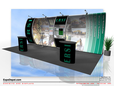 ERSI, Entasi 10x20 Vertical Curve w/ Stand-Off  Rendering 02 http://expodepot.com/entasi-showcase-display-c-142.html