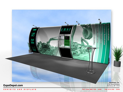 ERSI, Entasi 10x20 Vertical Curve w/ Stand-Off  Rendering 01 http://expodepot.com/entasi-showcase-display-c-142.html