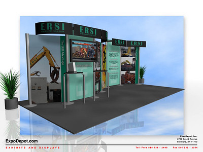 ERSI, Pronto 10x20 Rendering http://expodepot.com/pronto-backwall-displays-c-367.html