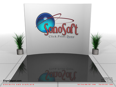 Empowered Tech, 10' Entasi Vertical Curve w/ Stand-Offs http://expodepot.com/entasi-showcase-display-c-142.html