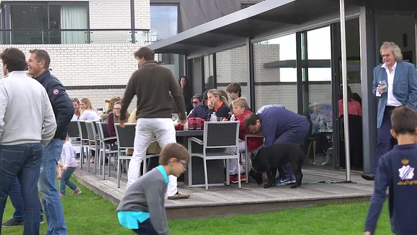Table & kids playing