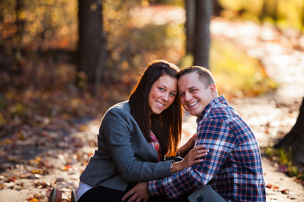 Portage Casual Fall Engagement with Dog Stoneburner