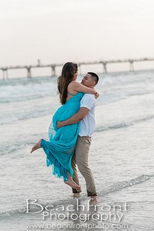 Fort Walton Beach Florida engagement photographers,