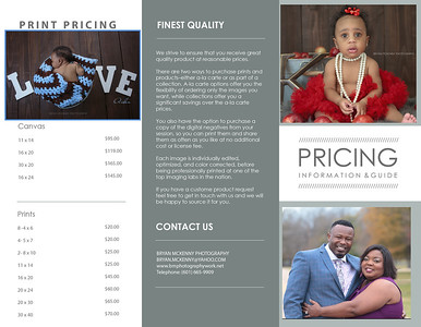 portrait price list