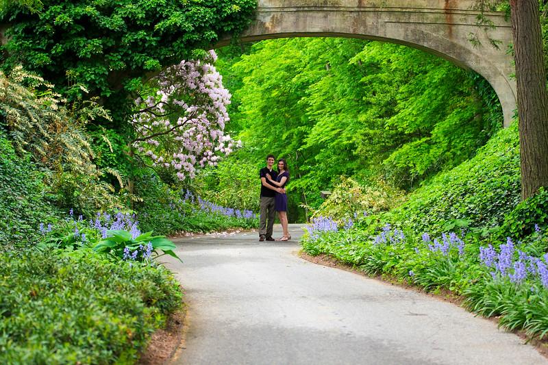 John & Emily Engagement at Longwood Gardens