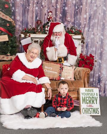Family Santa Pics