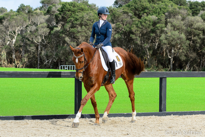 Megan Joyce riding Dal Santo