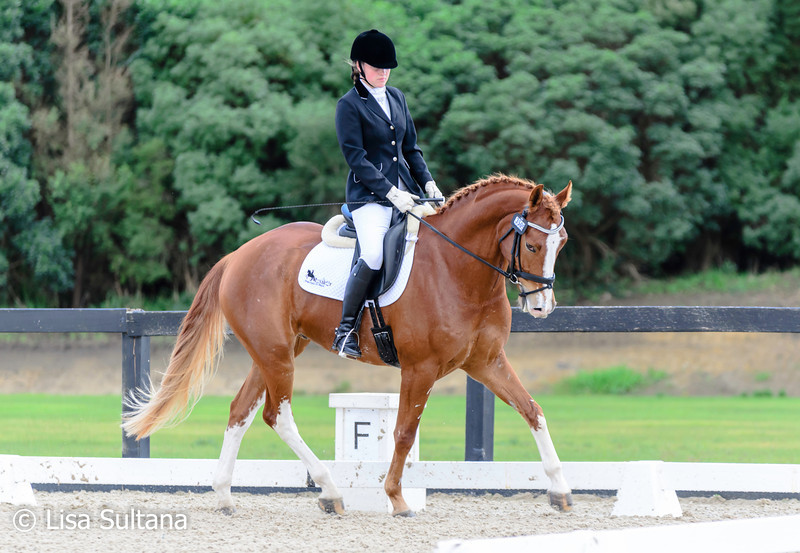 Fern Wright riding Ferrero Red Onyx