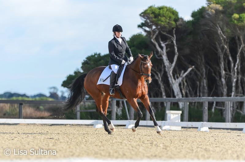 Marion Horsfall riding Jasmine