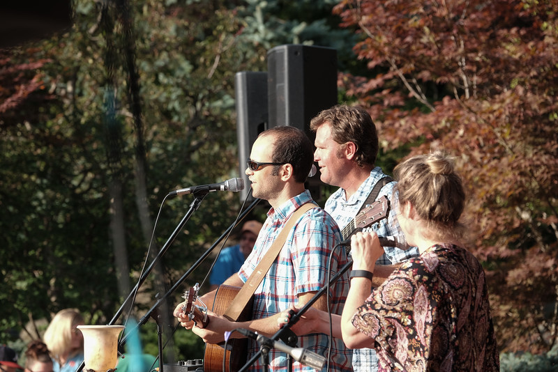 Whiskey Farm performs at Tuesday Evening in the Gardens at Anderson Japanese Gardens on Aug 23, 2016.