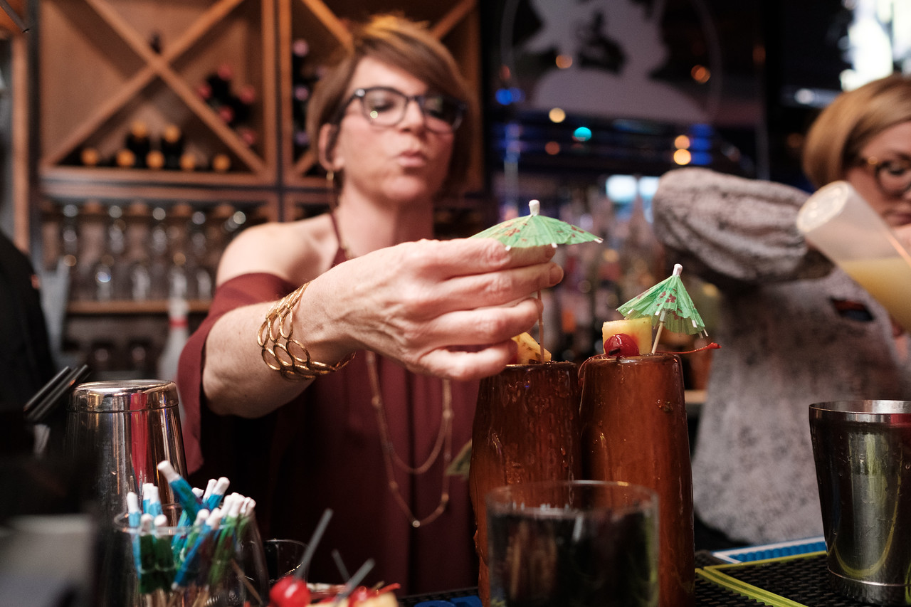 Club Blue guest bartender night at Big Al's bar on Jan 26, 2017