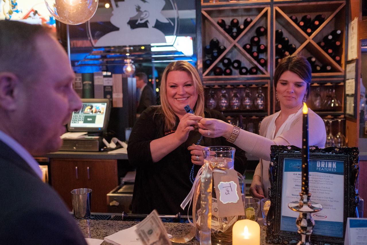 Club Blue guest bartender night at Big Al's bar on Jan 26, 2017