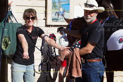 When hoof paint favor goes awry. Phyllis and Bryce Keller of Truckee.
