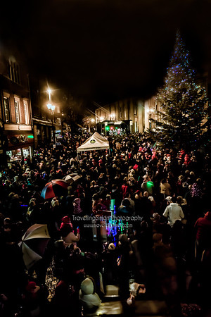 Winterfest. Macclesfield, 2012, Lights, Switch, On, Market Square, Tree, crowd