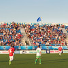 NASL match between FC Edmonton and New York Cosmos at Clarke Field on Jul 15, 2017 in Edmonton, Alberta, Canada