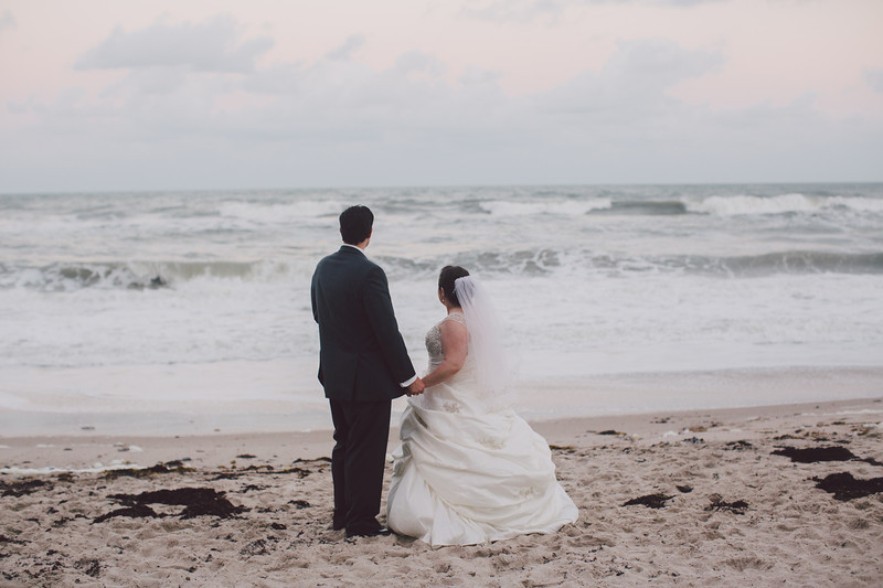 Me & Christina On The Beach Wedding Day