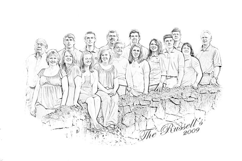 Darker version of the family sketch.