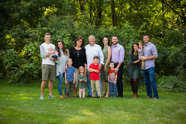 Tall Grand Rapids Extended Family Portrait Session Manning