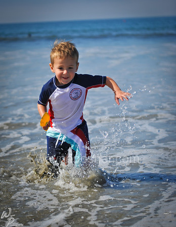 Child playing at beach