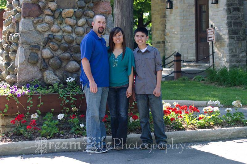 Family photos at St Johns Military Academy in Delafield WI.