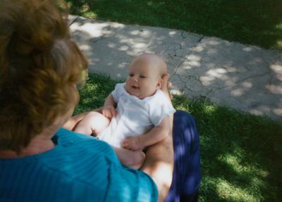 June 1994 - Grandma F holding Kaitlin F