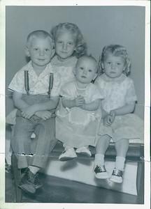 Dorothy (6), Garth (4.5), Georgia (3.5), Vivian (1)