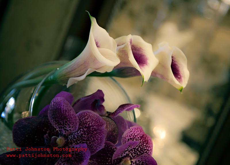 0281A<br /> <br /> Purple Callas and Orchids