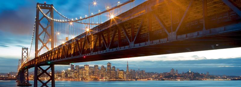 Bay Bridge Over San Francisco