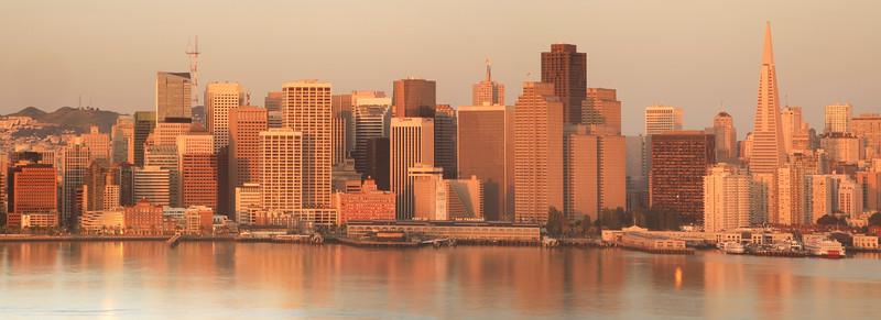 San Francisco Dawn from Yerba Buena