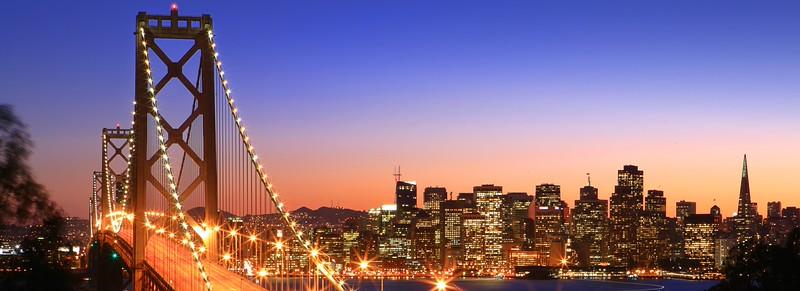 San Francisco Skyline Over the Bay Bridge