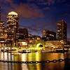 Boston Harbor at Night, panorama
