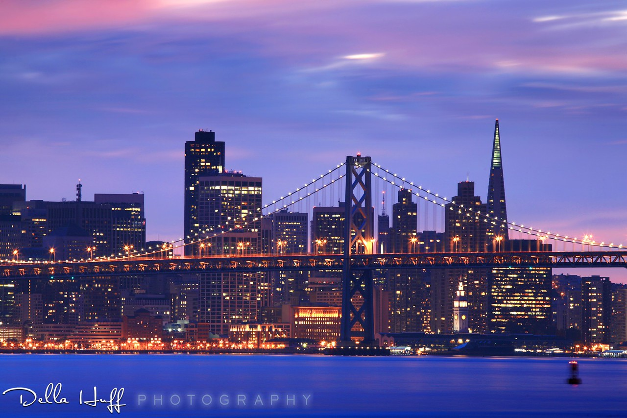 Bay Bridge Blue Hour