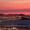 Stunning Sunset over the San Francisco skyline from the Berkeley Hills, California