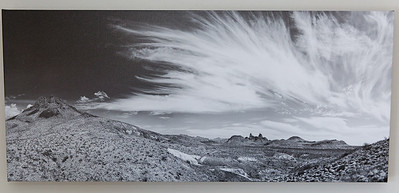 SALE DETAILS: Mule Ears & Clouds 36x16 canvas print  $150 (does not include sales tax or shipping).