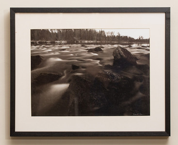 """SALE DETAILS:   16.5x20.5 Framed Print (1"""" deep)                             $50 (does not include sales tax or shipping).  Original price: $150  IMAGE DETAILS: 12437-1 First Rapids B&W"""
