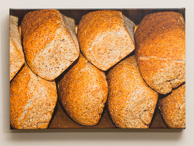 """SALE DETAILS:   11x16 Gallery Wrapped Canvas (1 1/2"""" deep)                             ***One of a set of four food images                             $40 for one, or $120 for all four (does not include sales tax or shipping).  Original price:           $150/each  IMAGE DETAILS: 042908-014-1 Pan"""