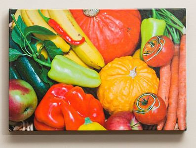 "SALE DETAILS:   11x16 Gallery Wrapped Canvas (1 1/2"" deep)                             ***One of a set of four food images                             $40 for one, or $120 for all four (does not include sales tax or shipping).  Original price:           $150/each  IMAGE DETAILS: 092406-054 Vegetables"