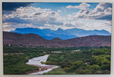 SALE DETAILS: Chisos & Rio 20x30 wrapped print  $100 (does not include sales tax or shipping).