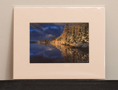 SALE DETAILS:   8x10 Matted print (in protective package)                             $10 (does not include sales tax or shipping).  Original price: $40/each  IMAGE DETAILS: 20090529-168-3 Rainbow over Gabbro Lake