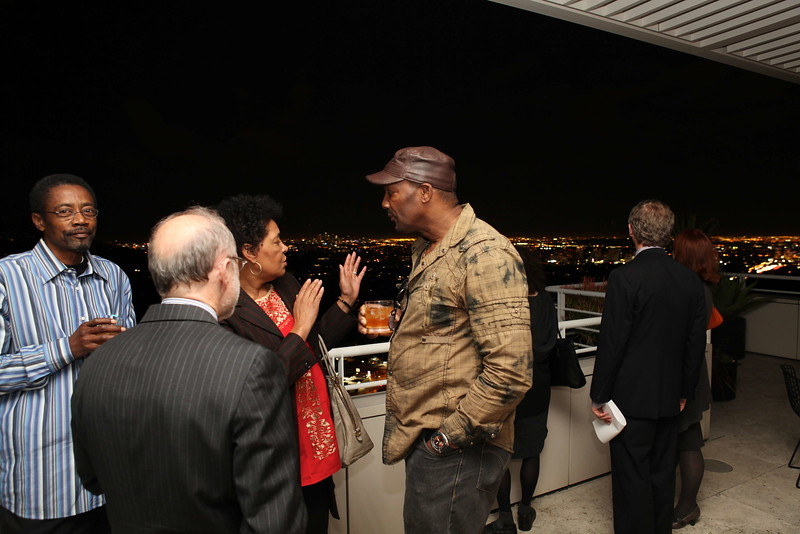 """1201009-014        LOS ANGELES, CA - JANUARY 26:A reception and lecture honoring actress Anna Deavere Smith and artists Carrie Mae Weems and Eileen Cowin, before their joint lecture """"Storytelling and Photography"""" held at the Getty Center on January 26, 2012 in Los Angeles, California. (Photo by Ryan Miller/Capture Imaging)"""