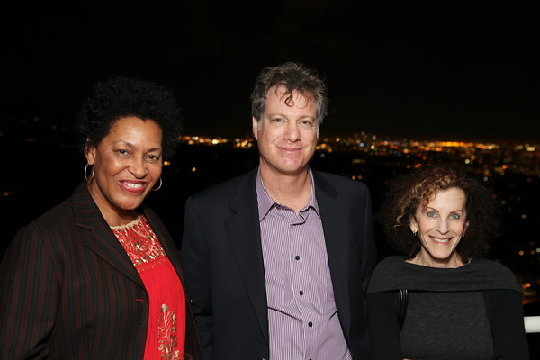 """1201009-024        LOS ANGELES, CA - JANUARY 26:A reception and lecture honoring actress Anna Deavere Smith and artists Carrie Mae Weems and Eileen Cowin, before their joint lecture """"Storytelling and Photography"""" held at the Getty Center on January 26, 2012 in Los Angeles, California. (Photo by Ryan Miller/Capture Imaging)"""