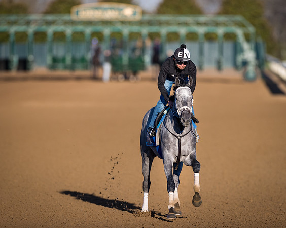 Essential Quality gallops at Keeneland 3.30.21.