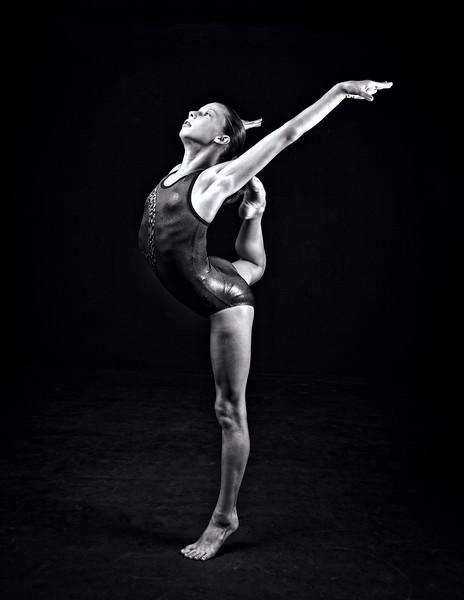 Studio Gymnasts (b&w)