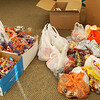 We collected 280 pounds of candy during the third annual Halloween Candy Buy Back at Emergency Dental Care USA, sponsored by Michael Obeng, DDS. We collected 177 pounds the night of the event, 11/1/12. Then over the weekend people brought in 103 pounds more, for a total of 280 pounds. Here's what it looks after it was all brought together for sorting.