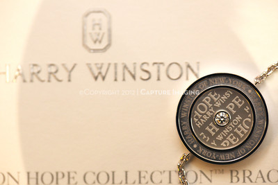 1211259-023    COSTA MESA, CA -  NOVEMBER 1: The Harry Winston Hope Collection Bracelet debut to benefit CHOC Children's hospital at the Harry Winston South Coast Plaza Salon on November 1, 2012 in Costa Mesa, California. (Photo by Michael Rueter/Capture Imaging)