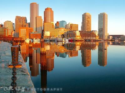 Sunrise on Boston Harbor