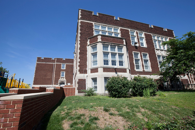 The Society's Urban Photography Series includes guided photo tours of neighborhoods in each of the District's eight wards. The tour of Park View (Ward 1) was led by Kent Boese. <br /> <br /> PICTURED:  Park View school.<br /> <br /> Shot 6/22/2013. Credit: Anne McDonough, © Historical Society of Washington, D.C.