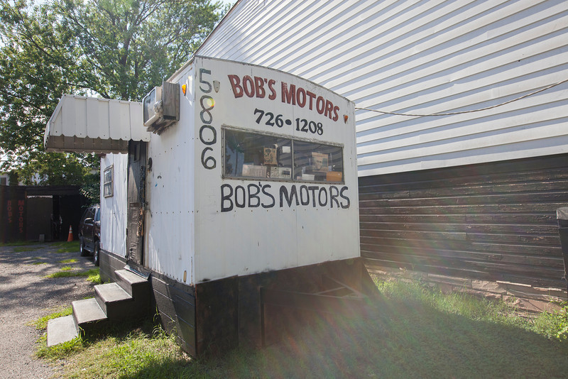 The Society's Urban Photography Series includes guided photo tours of neighborhoods in each of the District's eight wards. The tour of  Brightwood (Ward 4) was led by Pat Tyson. <br /> <br /> PICTURED: Bob's Motors, 5806 Georgia Avenue NW.<br /> <br /> Shot 6/29/2013. Credit: Anne McDonough, © Historical Society of Washington, D.C.